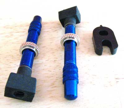 ALLOY VALVES FOR TUBELESS RIM blue