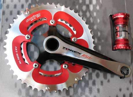 ALLOY CRANKSET 53/39 red/silver