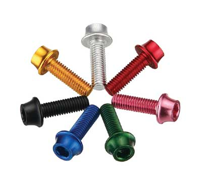 ALLOY BOTTLE CAGE BOLTS green