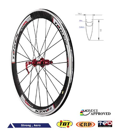 CARBON CLINCHER WHEELSET C55A