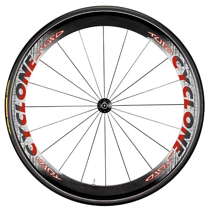 CYCLONE - TUBULAR CARBON WHEELSET CAMPY