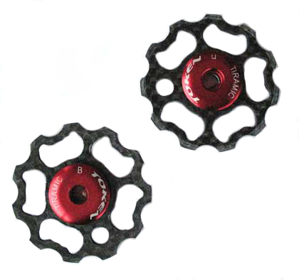 REAR DERAILLEUR CARBON PULLEYS S