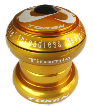 "TIRAMIC 1 1/8"" THREADLESS HEADSET gold"