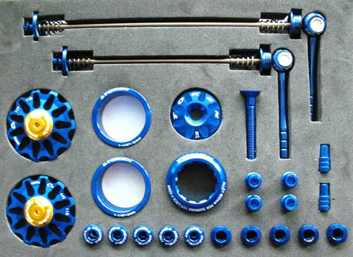 MTB CUSTOM PARTS KIT blue