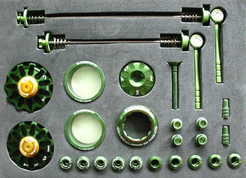 MTB CUSTOM PARTS KIT green