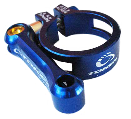 MTB SEAT CLAMP 31.8 blue
