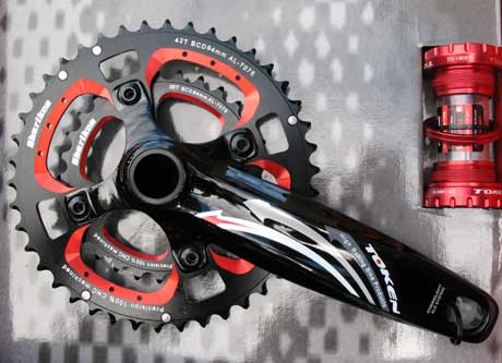 XC MTB DOUBLE INTEGRATED CRANKSET red