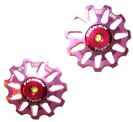 REAR DERAILLEUR PULLEY SET pink S