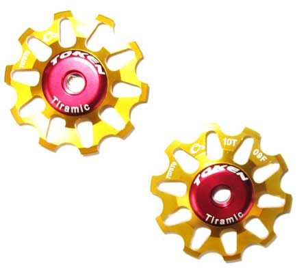 REAR DERAILLEUR PULLEY SET gold C