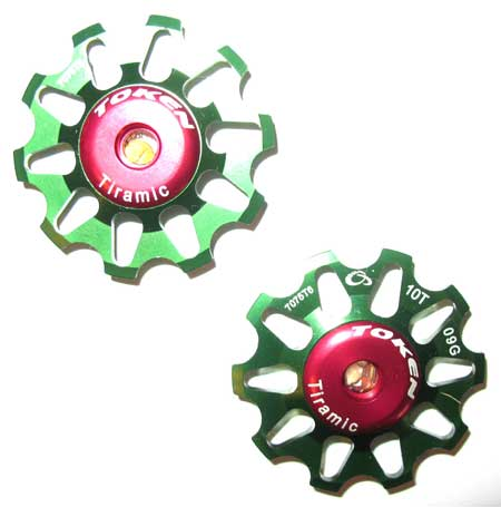 REAR DERAILLEUR PULLEY SET green C
