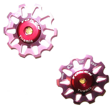 REAR DERAILLEUR PULLEY SET pink C