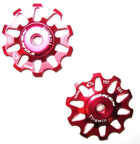 REAR DERAILLEUR PULLEY SET red C