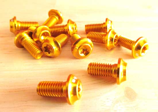 ALLOY ROTOR BOLT SET gold