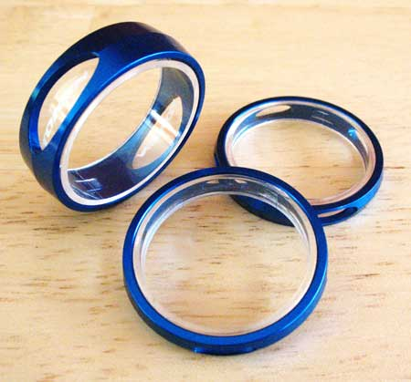SPACERS 3D blue