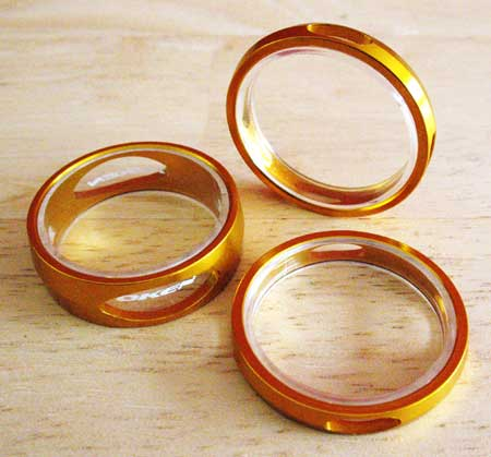 SPACERS 3D gold
