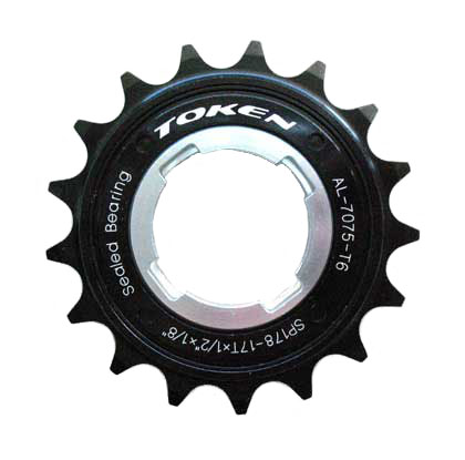 SINGLE SPEED FREEWHEEL black 17T