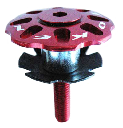 "TOP CAP SET 1 1/8"" red"