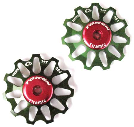 REAR DERAILLEUR PULLEY SET green S