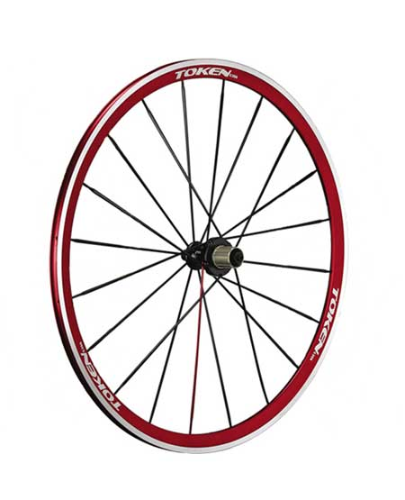 ANODIZED ALLOY CLINCHER WHEELSET red