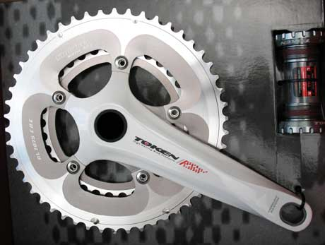 WHITE ALLOY CRANKSET 53/39 grey/silver