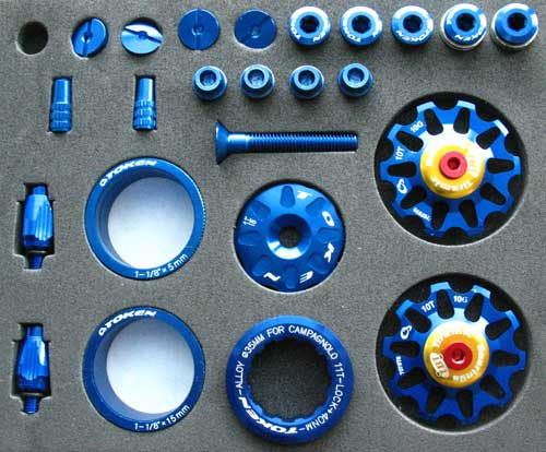 ROAD CUSTOM PARTS KIT blue