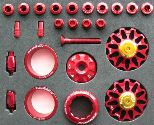 ROAD CUSTOM PARTS KIT red