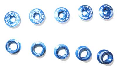 BOLT/NUT SET blue S