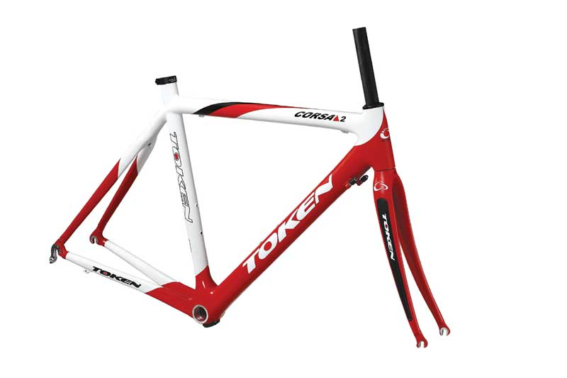 CORSA 2 CARBON FRAMESET 56 red