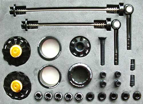 MTB CUSTOM PARTS KIT black