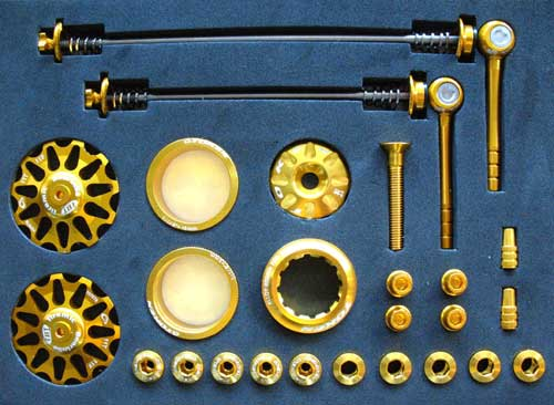 MTB CUSTOM PARTS KIT gold