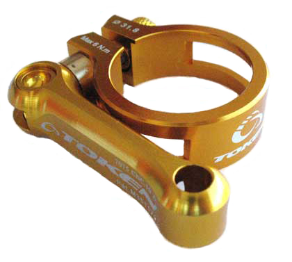MTB SEAT CLAMP 31.8 gold
