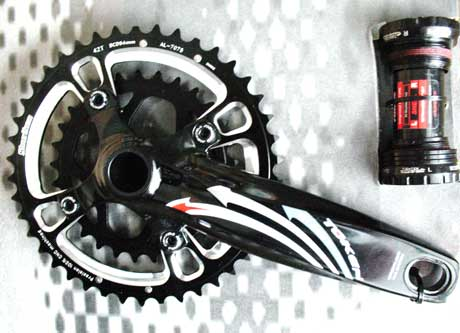 XC MTB DOUBLE INTEGRATED CRANKSET silver