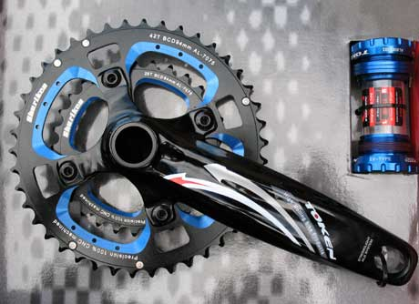 XC MTB DOUBLE INTEGRATED CRANKSET blue