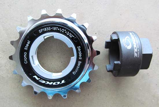 SINGLE SPEED FREEWHEEL 18T cromo