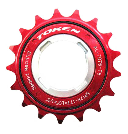 SINGLE SPEED FREEWHEEL red 17T