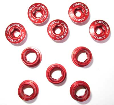 BOLT/NUT SET red S